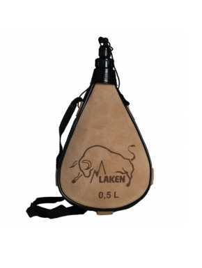 LAKEN Leather canteen 0,5 L straight form