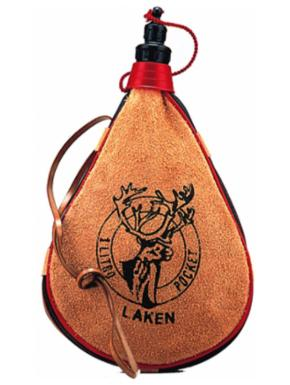 LAKEN Leather canteen 1 L straight form