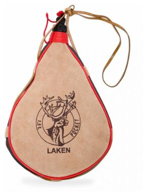 LAKEN Leather canteen 1,5 L straight form