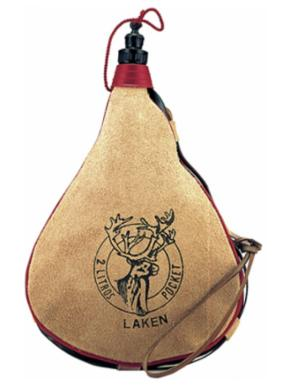 LAKEN Leather canteen 2 L straight form